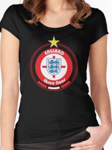 World Cup Football 6/8 - Team England Women's Fitted Scoop T-Shirt