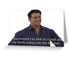 Joey Tribianni from Friends Greeting Card