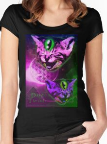 Cats of The Astral Plane  Women's Fitted Scoop T-Shirt