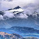 Snowing on the Mt.Aspiring Ranges. by Larry Lingard-Davis