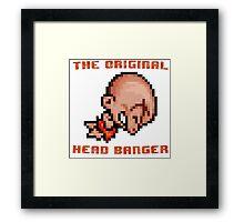 Bonk's Adventure original head banger Framed Print