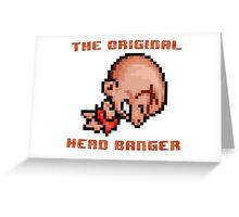 Bonk's Adventure original head banger Greeting Card