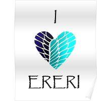 I Heart Ereri (Black Letters) Poster