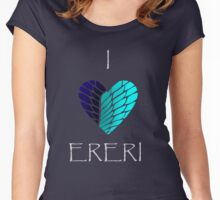 I Heart Ereri (White Letters) Women's Fitted Scoop T-Shirt