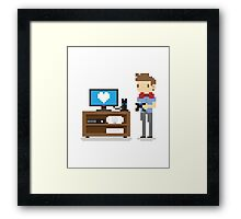 i love video games shirt! (console, pc) Framed Print