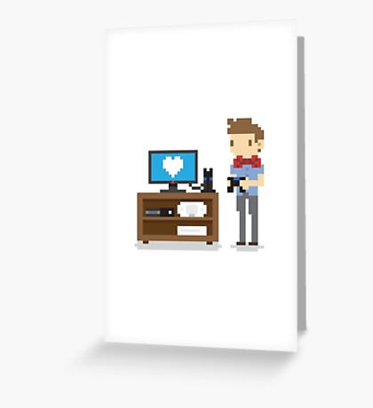 i love video games shirt! (console, pc) Greeting Card