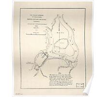 Civil War Maps 1614 Sketch of Fort De Russy Louisiana Poster