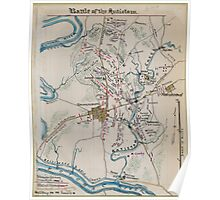 Civil War Maps 0150 Battle of the Antietam Poster