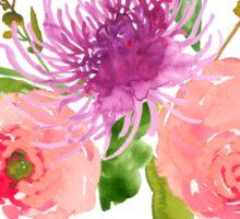 Floral Watercolor, Grapefruit Renunculus Sticker