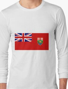 Manitoba Flag Long Sleeve T-Shirt