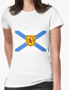 Nova Scotia Flag Womens Fitted T-Shirt