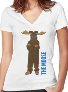 I am The Moose Women's Fitted V-Neck T-Shirt