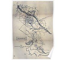 Civil War Maps 1583 Seven Days' battles Poster