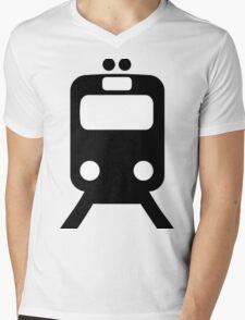 Train Symbol Mens V-Neck T-Shirt