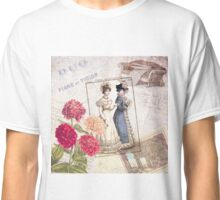 Vintage Dresses and Flowers Classic T-Shirt