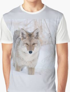Coyote in Snow at Yellowstone NP Graphic T-Shirt