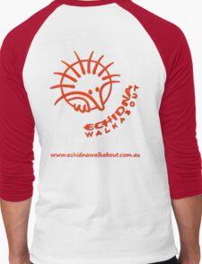 Echidna Walkabout logo Orange Men's Baseball ¾ T-Shirt