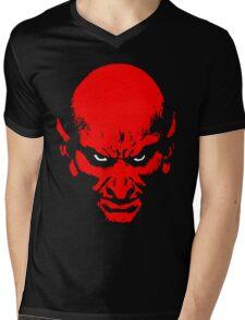 Red Devil Mens V-Neck T-Shirt