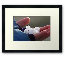 Hail Stones Framed Print