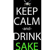 one piece zoro keep calm and drink sake anime manga shirt Photographic Print