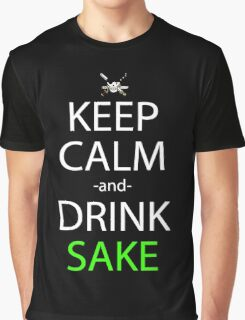 one piece zoro keep calm and drink sake anime manga shirt Graphic T-Shirt