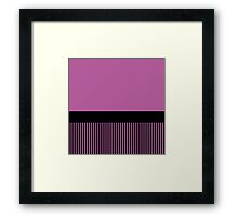 Trendy Radiant Orchid Chic Black Stripes Framed Print