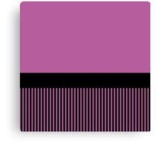 Trendy Radiant Orchid Chic Black Stripes Canvas Print