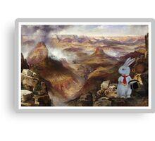 White Rabbit Explores the Grand Canyon - Moran Composite Canvas Print