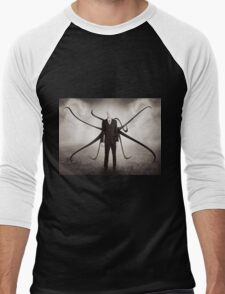 Slender Man style Men's Baseball ¾ T-Shirt