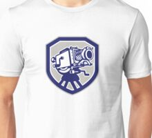 Movie Film Camera Vintage Shield Unisex T-Shirt