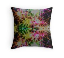 Floral Inspired Abstract Throw Pillow