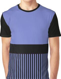 Trendy Violet Chic Black Stripes Graphic T-Shirt