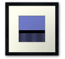 Trendy Violet Chic Black Stripes Framed Print