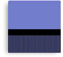 Trendy Violet Chic Black Stripes Canvas Print