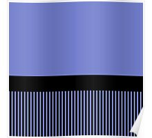 Trendy Violet Chic Black Stripes Poster