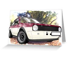 VW Polo Saloon  Greeting Card