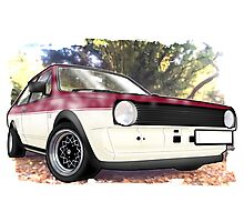 VW Polo Saloon  Photographic Print