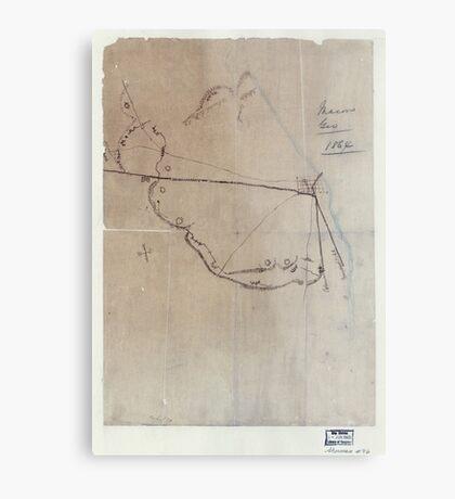 Civil War Maps 0595 Macon Geo 1864 Metal Print