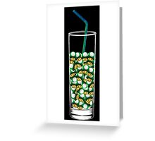 Mario Up Energy Drink glass Greeting Card