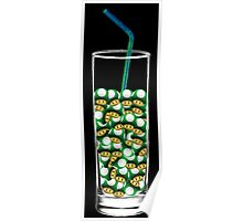 Mario Up Energy Drink glass Poster