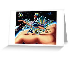 on the hand planet - m. a. weisse Greeting Card