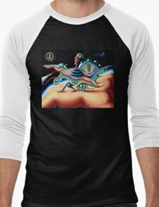 on the hand planet - m. a. weisse Men's Baseball ¾ T-Shirt