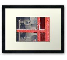 Old telephone booth Framed Print