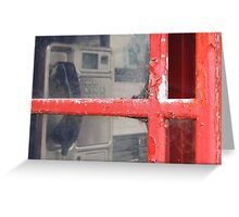 Old telephone booth Greeting Card