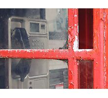 Old telephone booth Photographic Print
