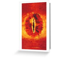 Lord of the Rings Sauron Greeting Card