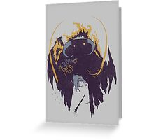 Lord of the Rings Balrog vs Gandalf Greeting Card