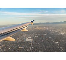 Flying to LA - Southern California's Sprawling Metropolis from a Plane Photographic Print