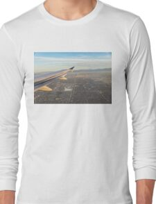 Flying to LA - Southern California's Sprawling Metropolis from a Plane Long Sleeve T-Shirt