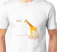 Funny Nudist Giraffe tshirt Unisex T-Shirt
